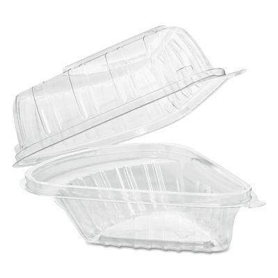 Dart Showtime Takeout Plastic Clamshell Pie Wedge Containers  - DCCC54HT1
