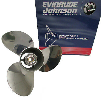 Johnson/Evinrude/OMC New OEM SSP Prop 13-1/2X15 RH Stainless Propeller 0763950