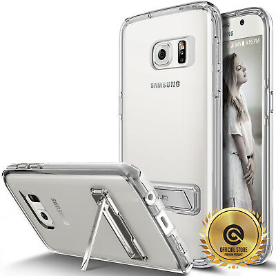 OBLIQ® Galaxy S7 / S7 Edge CLEAR Case [NAKED SHIELD] Metal-Kickstand Skin cases