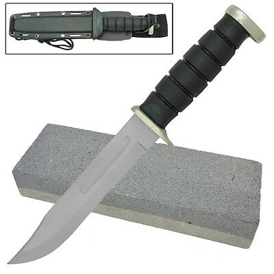 Insurgent Fixed Blade Hunting Outdoor Knife with FREE Sharpening Stone