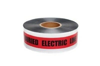 Swanson 5-MIL Detectable Tape Caution with Buried Electric Line Below, Red/Black