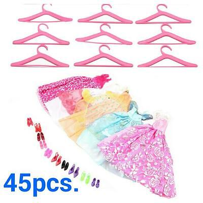 45 x bundle girls toy doll BARBIE clothes shoes accessories outfits dresses BC8