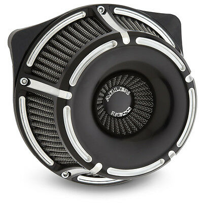 Arlen Ness Slot Track Inverted Air Cleaner Kit Black For H-D Big Twin