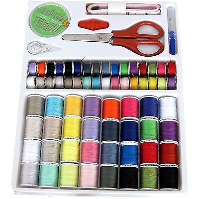100 Pcs Sew Sewing Set Colors Needle Bobbin Thread Rippers Matching Accessories