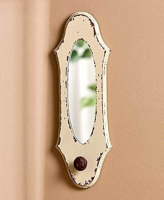 The Lakeside Collection Vintage Wall Hook Mirrors - Ivory