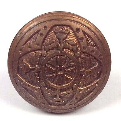 ~~ Collectible Antique H281 Niles Chicago Brass Doorknob 1885 Door Knob Hardware