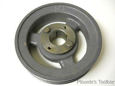 """New Browning 2BK65H Cast Iron 2-Groove Sheave with 1-1/4"""" Bushing"""