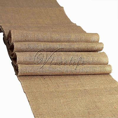 Rustic Burlap Hessian Table Runner Natural Jute Vintage Wedding Party Decor