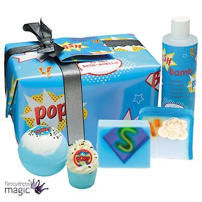 Bomb Cosmetics Superhero's Saviour Superhero Gift Fathers Day Wrapped Bath Set