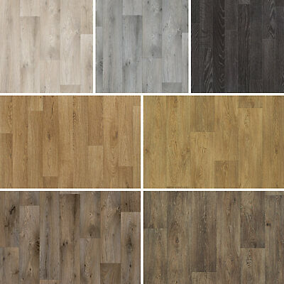 Quality Non Slip Vinyl Flooring Wood Effects Cheap Kitchen Bathroom 2m 3m 4m