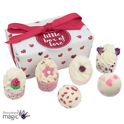 Bomb Cosmetics Little Box Of Love Ballotin Pack Gift Bath Bombs Melts Soaps Set
