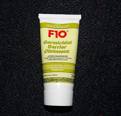 F10 Germicidal Barrier Ointment to Treat Open Wounds and Prevent Reinfection