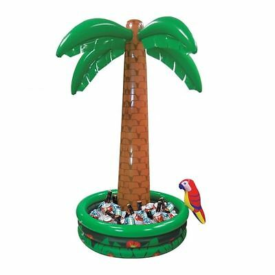 6Ft Inflatable Palm Tree Cooler Parrot Hawaiian Pirate Summer Party Decoration