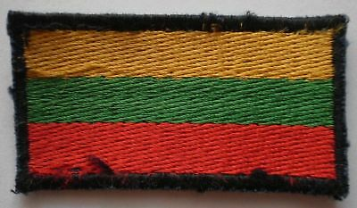 Lithuanian Army Military Uniform Patch Tab FLAG