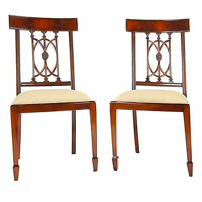 NDRSC033, Niagara Furniture, PAIR Solid Mahogany Hepplewhite Side Chair