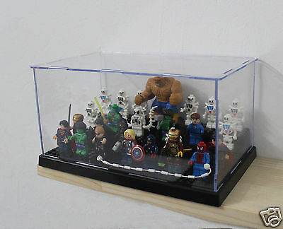 x1 Black Display Case for Lego Minifigure collector's  Assemble decoration box