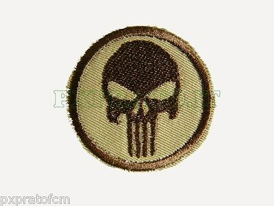 Patch SoftAir Punitore Punisher Sabbia Desert Toppa Militare Soft Air con  Velcro 081f66538345