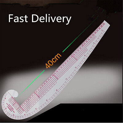 3 In 1 Styling Design Soft Plastic Ruler French Curve Hip Straight Ruler Scale