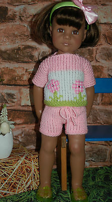 Puppenkleidung  3tlg. Sommer Outfit für 50 cm Stehpuppe