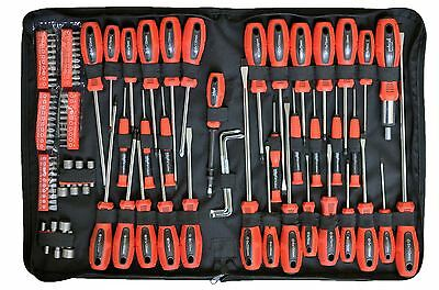 Rolson Tools 100 PC Piece Screwdriver & Bit Set Kit Torx Precision Ratchet Pouch