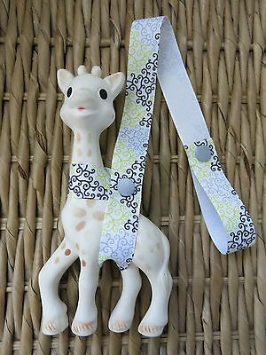Sophie The Giraffe Harness Toy Saver Strap Leash, Swirls
