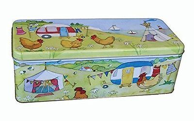 Emma Ball Glamping Camping Scene Long Rectangular Cracker Storage Tin