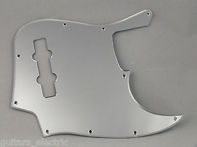 MIRROR CHROME SCRATCH PLATE Pickguard to fit USA/Mex JAZZ BASS J Bass
