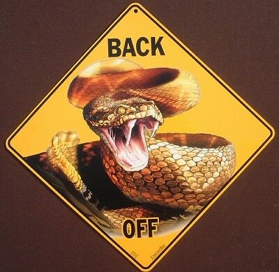 RATTLESNAKE CROSSING Sign decor snakes novelty picture home signs animals