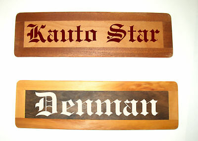 Real Wood Stable Signs