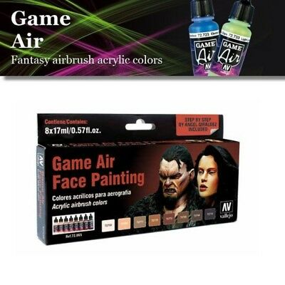 Vallejo Game Air | Farbset | Face Painting (14,67€/100ml)