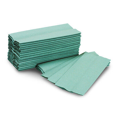 Green Paper Hand Towels / Napkins (15360 Tissues) (6 Boxes)
