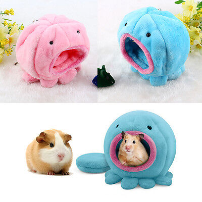 Rat Hamster Squirrel Soft Warm Plush Bed Small Pet Toy Octopus Shape House Cage