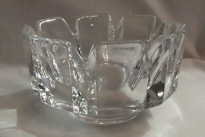 Authentic Orrefors Corona crystal bowl, signed