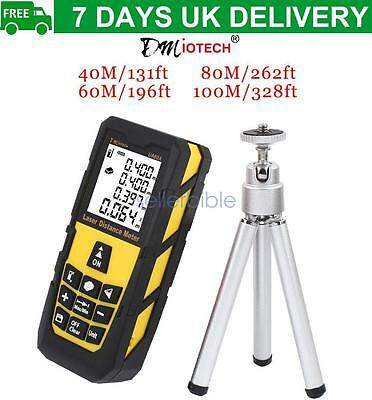 40m/60m/80m/100m Handheld Digital Laser Distance Meter Measure Rangefinder UK