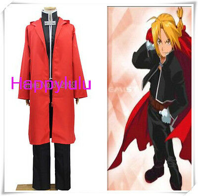 Japan anime Fullmetal Alchemist Edward Elric Cosplay Costume Uniform suit set