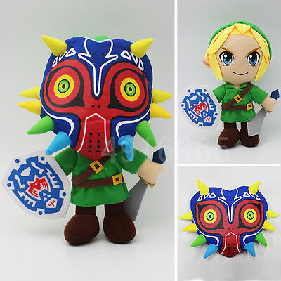 Cool Anime The Legend of Zelda Link Plush Majora Mask Doll Otaku Toys Handsome