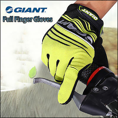 Genuine Giant Bicycle Cycling MTB Bike Full Finger Antiskid Silicone Gel Gloves