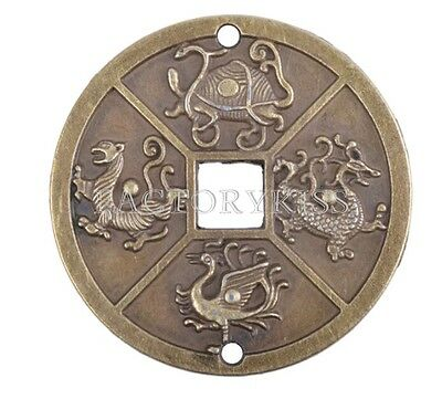 Chinese Four Celestial Animals Coins Feng Shui I Ching Coin QH9