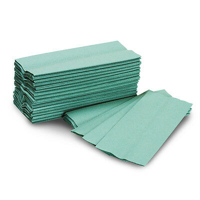 Green Paper Hand Towels / Napkins (12800 Tissues) (5 Boxes)