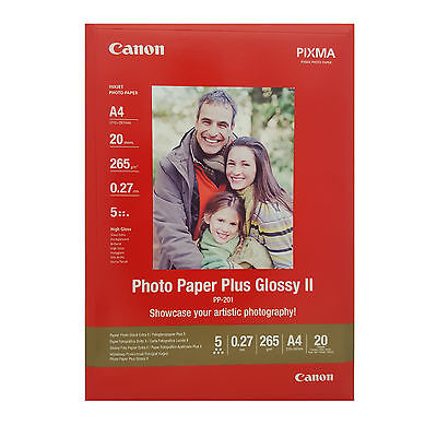 Canon Photo Paper Plus Ii A4 Glossy 265Gsm - 20 Sheets Pp-201 2311B019