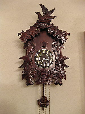 1 very nice wall cuckoo wall clock coucou reloj de coco present gift idea #447