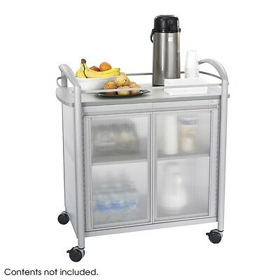 Safco 8966GR Impromptu Refreshment Cart, Hospitality and Beverage Cart, Gray NEW