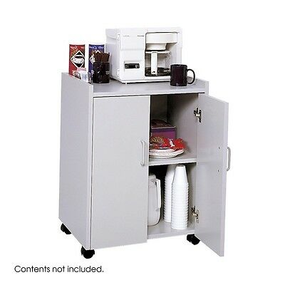 Safco 8953GR Mobile Refreshment Center, Hospitality and Beverage Cart, Gray NEW