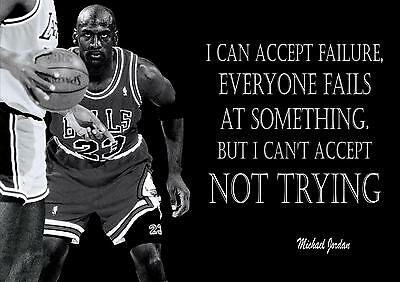 Michael Jordan Inspirational / Motivational Poster / Print