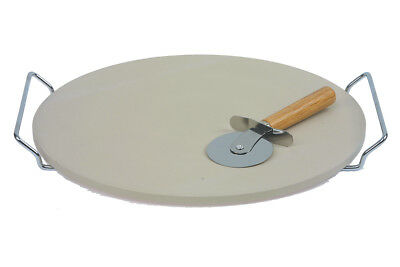 Swift 32cm Pizza Stone  Set  complete with Metal Stand and Cutter