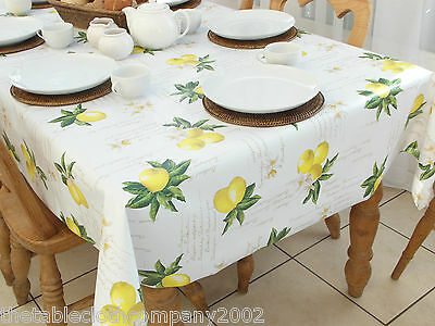 140 x 200cm Rectangle Wipe Clean PVC Tablecloth - Lemons