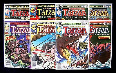 TARZAN Lord of the Jungle Bronze Age Marvel Comic Books ~ Lot of (8) Different