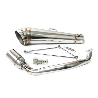 Stainless Steel GP Exhaust Muffler System for Most Chinese 125/150cc GY6 Scooter