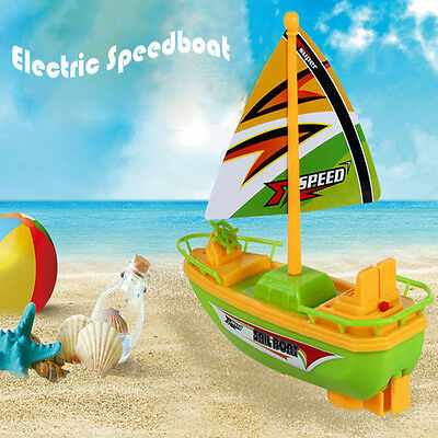 Mini Electric Speed Boat Toy For Baby Kids Water Bath Toys New