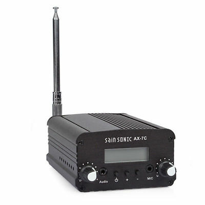 AX-7C FM Transmitter Mini Radio Stereo Station PLL LCD with Antenna FCC Approve